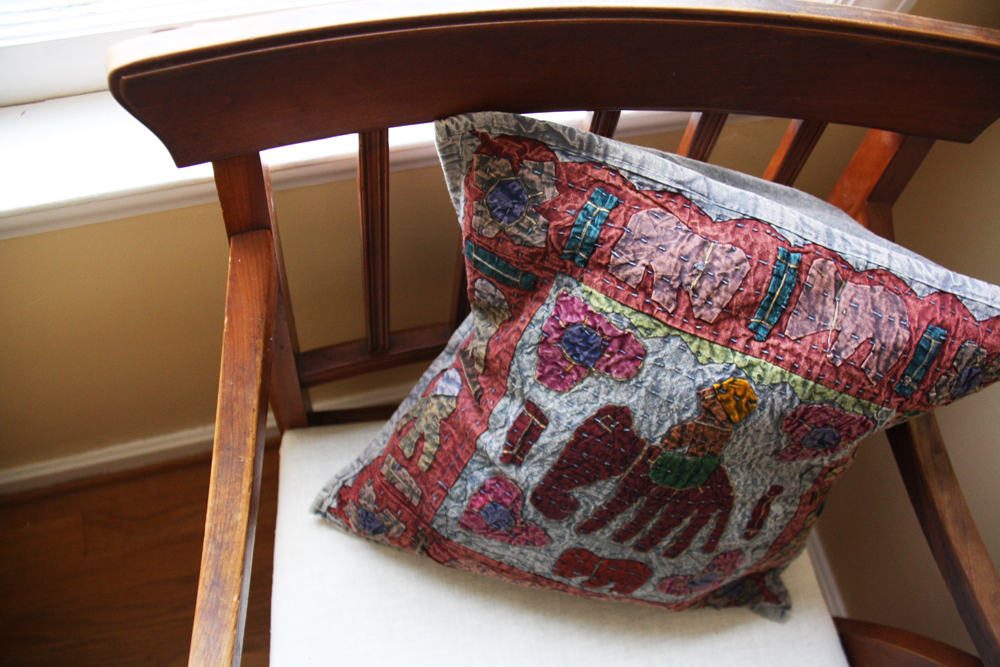 Wooden Chair Makeover: After   redleafstyle.com