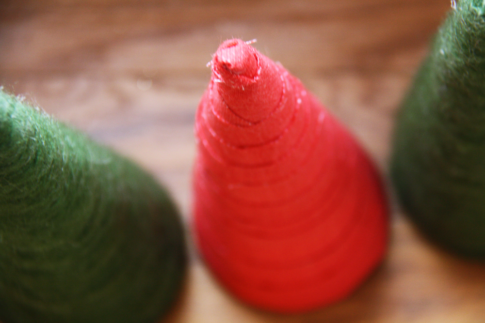 Christmas tree cones.