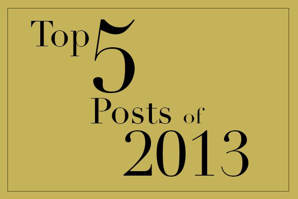 Top 5 Posts of 2013