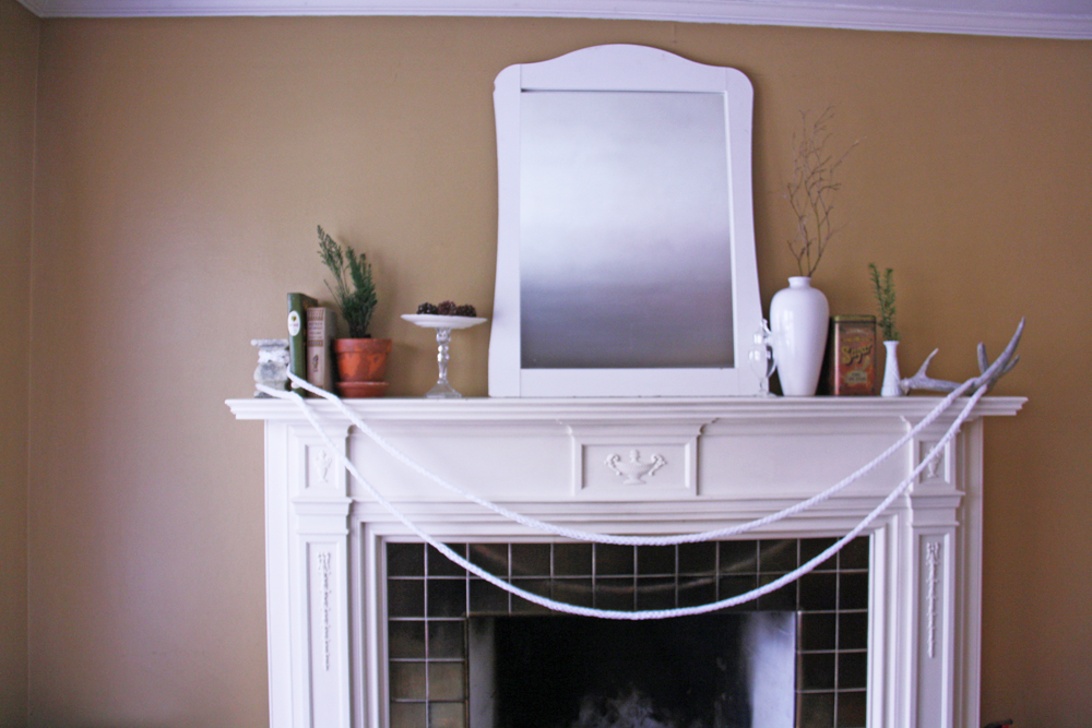 Pretty fireplace mantle.