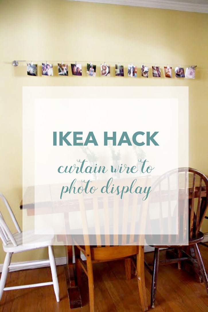 Ikea Hack Curtain Wire To Photo Display Red Leaf