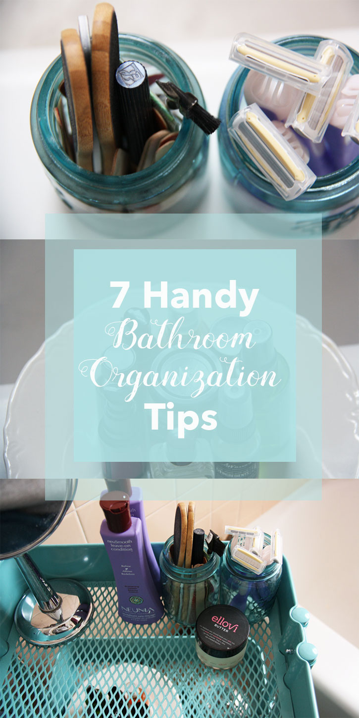 7 Handy Bathroom Organization Tips | redleafstyle.com