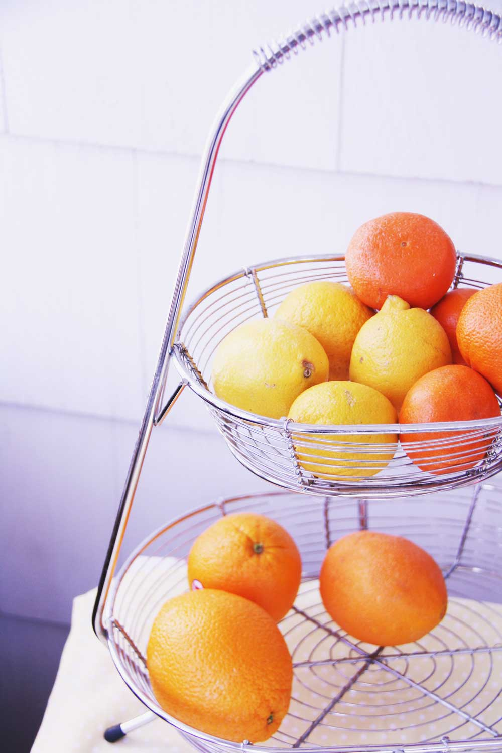 Oranges and lemons in basket | redleafstyle.com