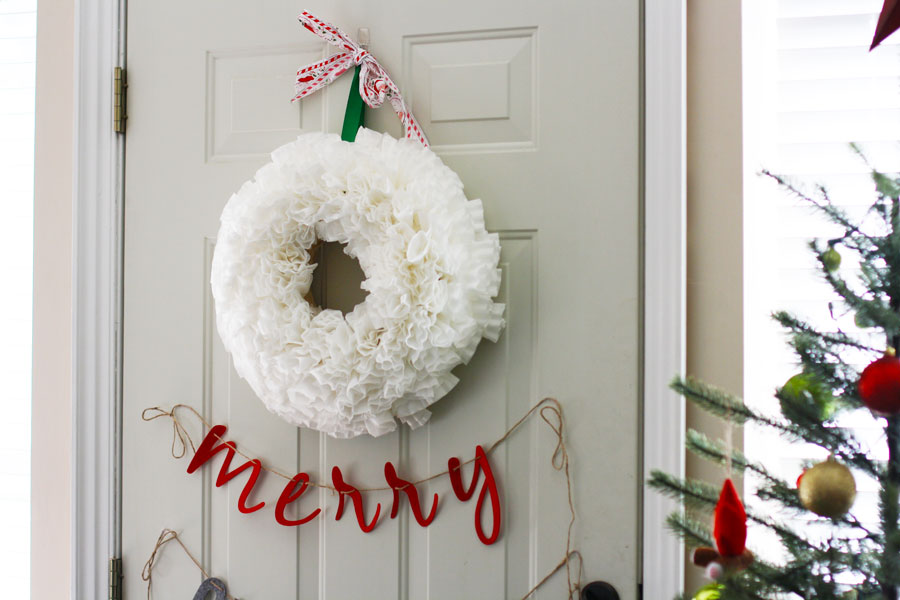 DIY Coffee Filter Wreath | redleafstyle.com
