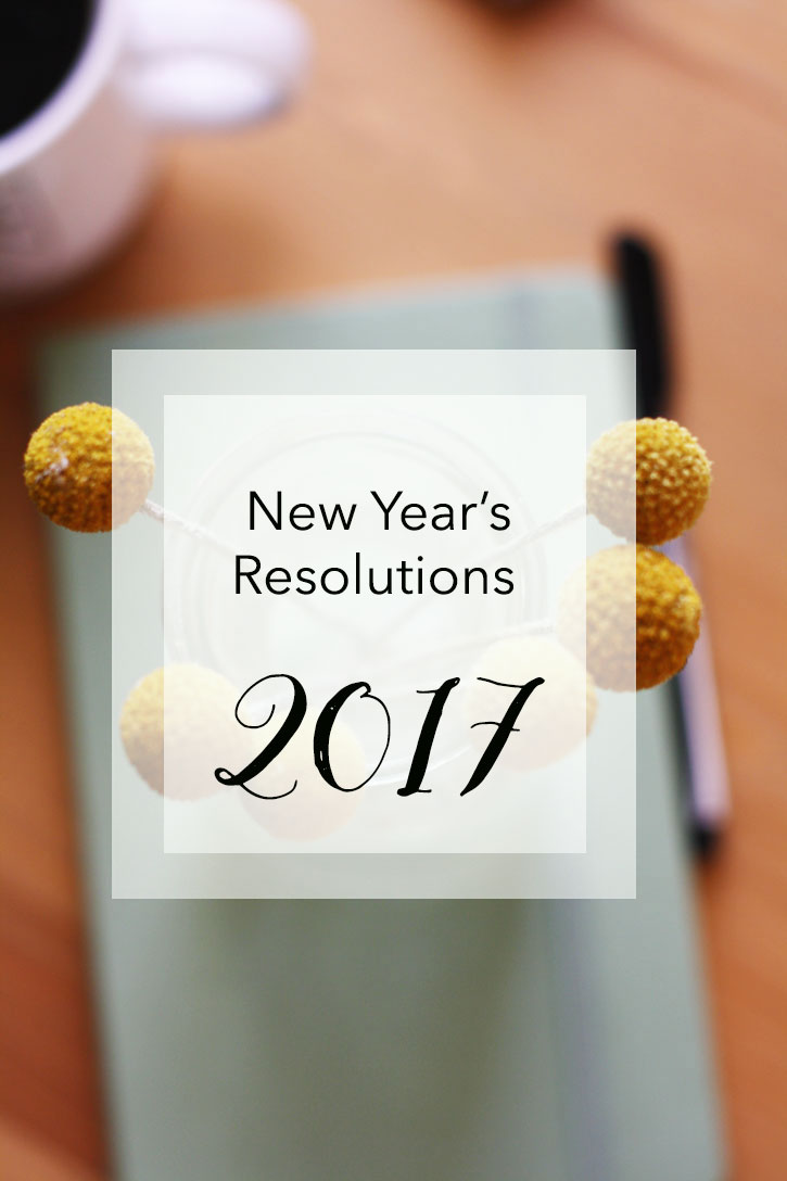 New Year's Resolutions 2017 | redleafstyle.com