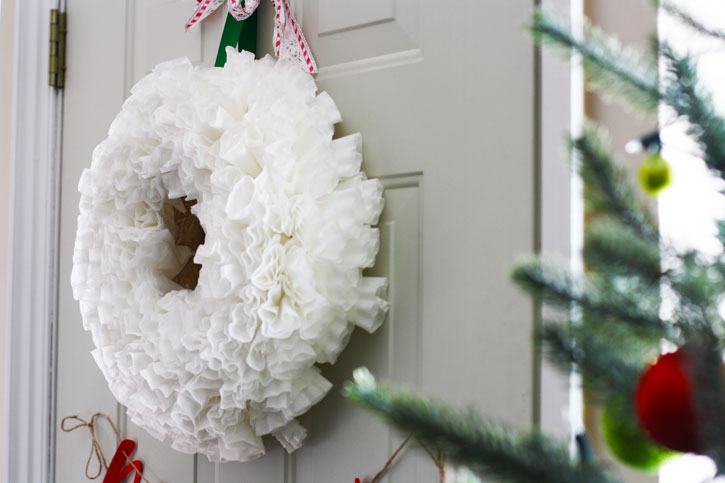 Christmas Crafts Made With Coffee Filters