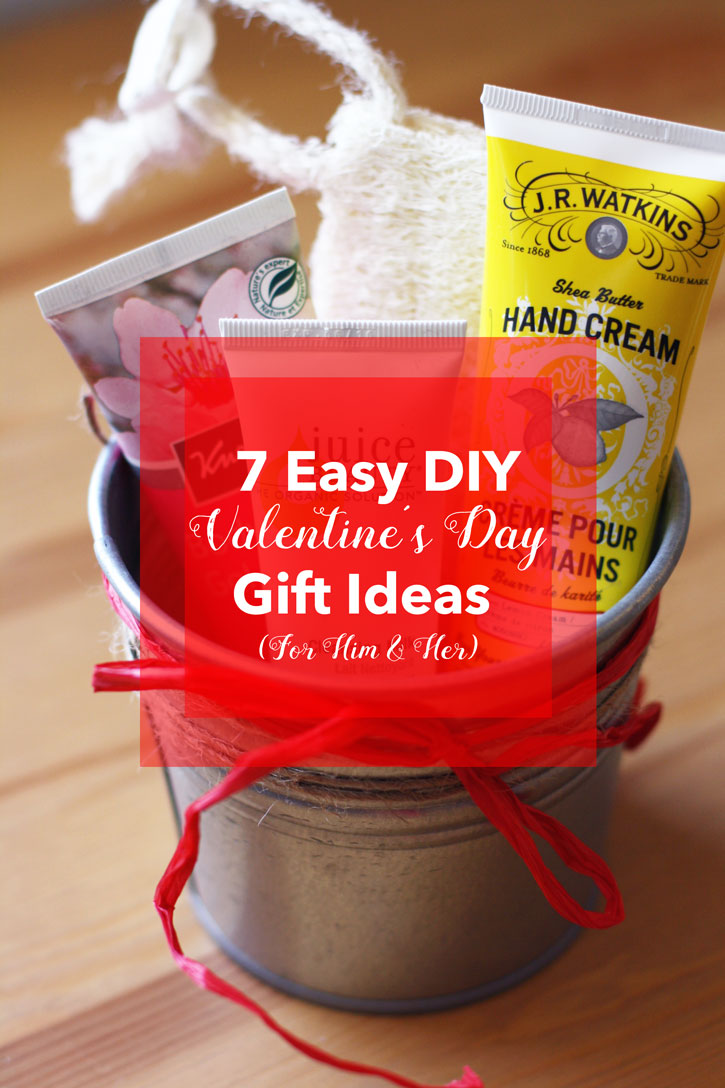 7 Easy DIY Valentine's Day Gift Ideas (For Him & Her) | redleafstyle.com